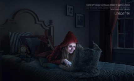 UNICEF (United Nations International Children's Emergency Fund): Little Red Riding Hood Print Ad by David Buenos Aires