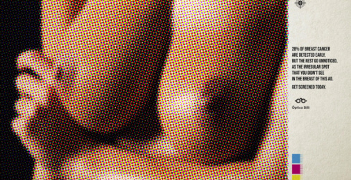 Óptica Billi: Unnoticed Breasts, 1 Print Ad by Zea BBDO Venezuela