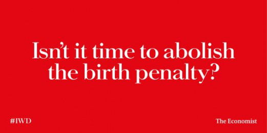 The Economist: Birth Penalty Outdoor Advert by AMV BBDO London