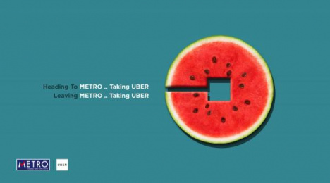 Uber: Watermelon Print Ad by AB&Partners