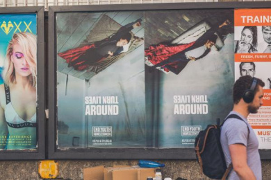 End Youth Homelessness: Turn Lives Around, 3 Outdoor Advert by WCRS