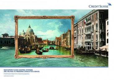 Credit Suisse: Macaferri Print Ad by Euro Rscg London