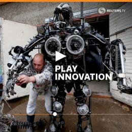 Reuters: Robot Print Ad by John McNeil Studio