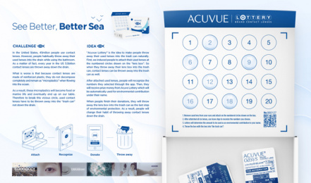 Acuvue: Acuvue Lottery - Board Print Ad by Hongik University
