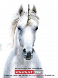 Calcalist: Unicorn Print Ad by No, No, No, No, No, Yes