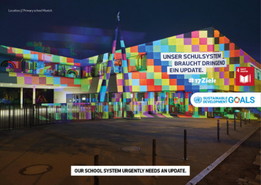 17Ziele: 17 Live Projections, 15 Print Ad by HUisHU. Digitale Kreativagentur, Hamburg & Hannover, Germany
