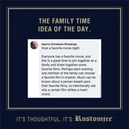 Rustomjee: The Family Time Idea Of The Day, 6 Digital Advert by Ideas@work