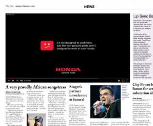 Honda: YouTube Print Ad by DDB Johannesburg