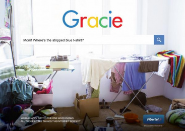 FiberTel: Search Engine - Gracie Print Ad by Don