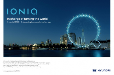 Hyundai: IONIQ - In charge of turning the world, 3 Print Ad by Jung Von Matt Germany