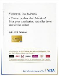 Visa: Vendeur Print Ad by Saatchi & Saatchi + Duke France