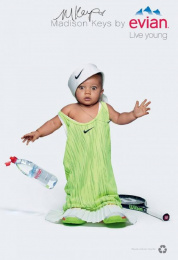 Evian: Oversize, 4 Print Ad by BETC