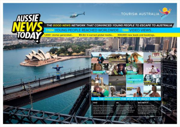 Tourism Australia: Aussie News Today, 2 Print Ad by Clemenger BBDO Sydney