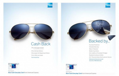 American Express: Sunglasses Print Ad by Ogilvy & Mather New York