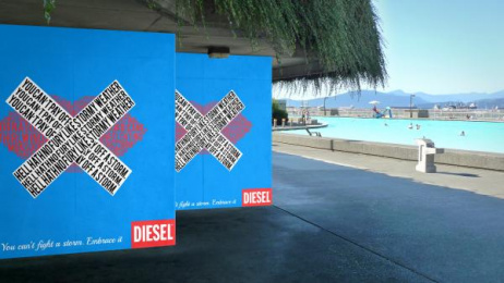 Diesel: Embrace It, 2 Outdoor Advert by Miami Ad School New York