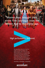Accenture: Warner Brothers  Print Ad by Accenture, TBWA\Chiat\Day USA