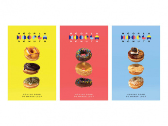 Hoopla Donuts: Hoopla Brand ID, 5 Print Ad by Daughter Creative