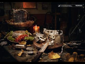 Honda Original Spare Parts: Autumn Print Ad by Euro Rscg Madrid