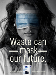 Fine Hygienic: Waste Can Mask Our Future, 2 Print Ad by Horizon FCB Dubai