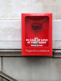 Flower Council of Holland: In case of love at first sight, break glass Outdoor Advert by Chocolat Rouge Films, Kingsday Amsterdam