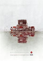 Red Cross: Barrell Print Ad by Verde Asunción