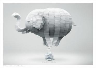 Epson Printer: Elephant Print Ad by ADK Taipei