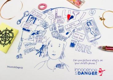 Innocence En Danger: Danger Doodle, 2 Print Ad by Glow