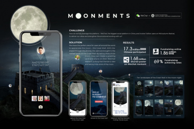 WeChat: Moonments, 5 Print Ad by Stink Studios