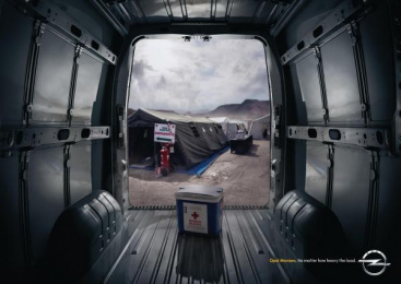 Opel Movano: Catastrophe Print Ad by Y&R Madrid