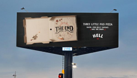 Hell Pizza: Hell Pizza Print Ad by BC&F Dentsu
