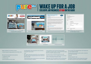 Pure Fm: WAKE UP FOR A JOB Direct marketing by VVL BBDO Brussels