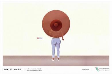 Laco Foundation: Breast, 2 Print Ad by FCB Lisbon