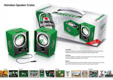 Heineken Beer: HEINEKEN SPEAKER CRATES Print Ad by QI Commercials