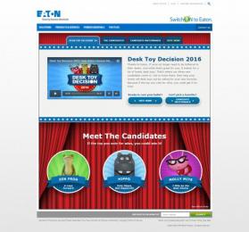 Eaton's: Eatons Desk Toy Decision [website photo] 2 Digital Advert by Jack Morton Worldwide