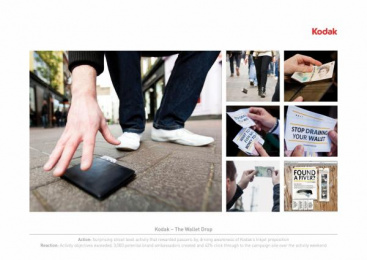 Kodak Inkjet Printers: THE WALLET DROP Promo / PR Ad by OgilvyAction London, Wunderman London