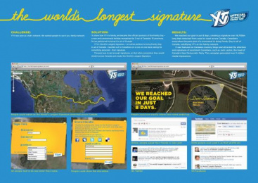 YTV CHILDREN'S TELEVISION NETWORK: THE WORLD'S LONGEST SIGNATURE Direct marketing by Zig