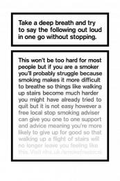 The Breath Test, 1 Print Ad by AMV BBDO London, Grand Visual