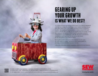 SEW Eurodrive: Gearing Up For Your Growth Is What We Do Best Print Ad by Bolditalic Bengaluru