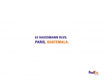 Fedex: France Print Ad by Brother Ad School Santo Domingo