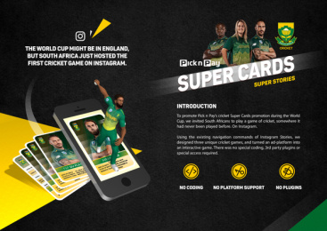 Pick 'n Pay: Super Cards Super Stories Print Ad by King James