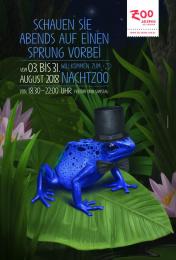 Salzburg Zoo: Frog Print Ad by dunkelblaufastschwarz Salzburg
