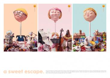 Chupa Chups: Music - Design - Posters Print Ad by Cheil Hong Kong