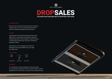 Motorola Droid: Drop Sales [image] Digital Advert by VML New York