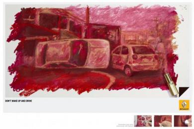 Renault: Lipstick Print Ad by Publicis Caracas, Zea BBDO Venezuela