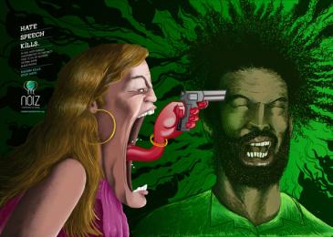 Noiz Projeto Social: Stop Hate - Racism Print Ad by 3A Worldwide Rio de Janeiro