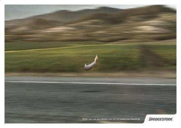 Bridgestone: Mountain Print Ad by Plataforma Montevideo