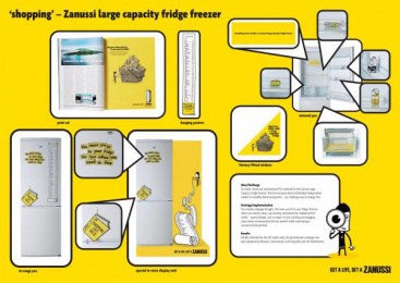 Large Capacity Fridge Freezer: SHOPPING Print Ad by BBH London