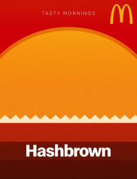 McDonald's: Tasty Mornings - Hashbrown Print Ad by Fortune Promoseven Dubai