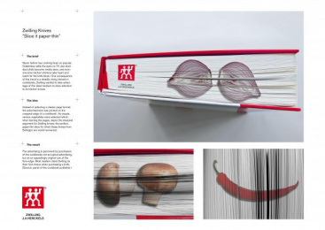 Zwilling Kitchen Knives: SLICE IT PAPER-THIN Print Ad by Y&R Frankfurt