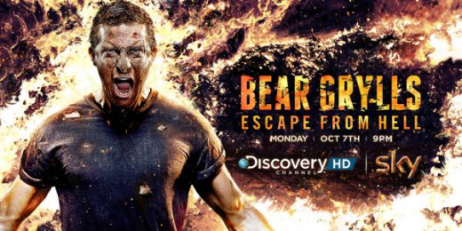 Discovery Channel: Bear Grylls, Escape from Hell Print Ad by Discovey Channel, London